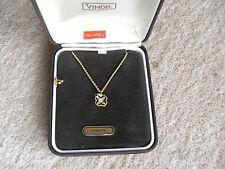 SOLID 9ct GOLD & DIAMONITE PENDANT, (yag) 11mm, 4mm GEM