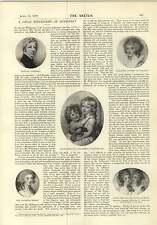 1897 chiens de berger RICHARD COSWAY Miniature pointe sèche