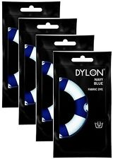 4x Dylon Navy Blue Fabric and Clothes Hand Dye 50g - FREE P&P