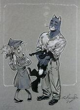 """Juanjo GUARNIDO  """"Blacksad, El gato"""" Affiche BD signée et numérotée"""