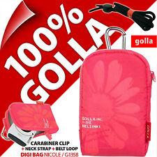 New Golla Universal Compact Digital Camera Case Bag {Pink for Fuji Sony Samsung