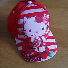 Jolie casquette Hello Kitty taille 52 cm rouge