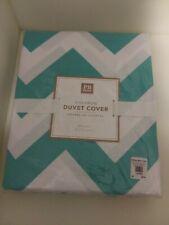 Pottery Barn Teens Chevron Pool/White Duvet Cover New in Sealed Package
