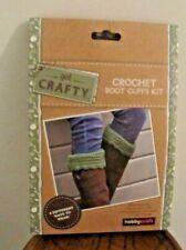 Hobbycraft Crochet boot Cuffs Craft Kit  BNIB