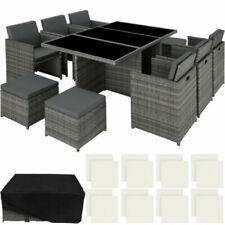 Sets de muebles de jardín grises de poliratán