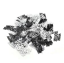 Birthday Party Confetti Table Scatters Supplies - Happy Birthday Black & Silver