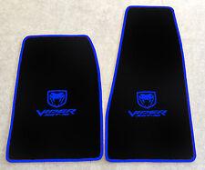 Autoteppich Fußmatten Chrysler Dodge Viper SRT10 schwarz blau 2teilig Neuware
