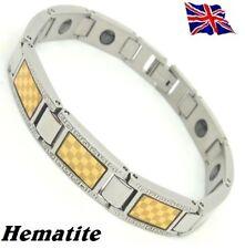 Magnetic Hematite Energy Power Bracelet Health Bio Relax Armband wristband Cuff