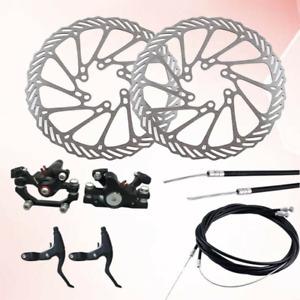 Mechanical Disc Brake MTB Bike Cycling Bicycle Front + Rear Brake Disc 160mm TI