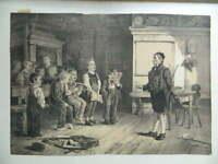 El Lección de Canto, Litografía De C. Barry, Pintados Por Schloesser Goupil