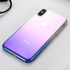 Luxury Aurora Gradient Colorful Clear Ultra Thin Hard PC Case Cover For iPhone X