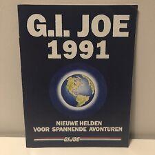GI JOE Gijoe 1991 DUTCH Booklet / Checklist Partially filled in #1