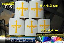 Asturias cruz victoria 5 pegatinas sticker decal aufkleber vinilo 3M 50 S
