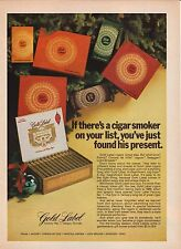 Gold Label Cigars--Christmas Gift--1972 Magazine Advertisement