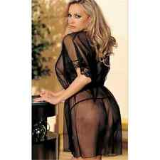 1PC Hot Black Women's Lingerie Babydoll Sleepwear Underwear Lace Dress Plus Size