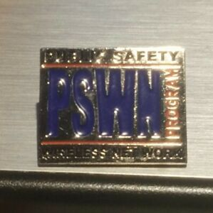 PUBLIC SAFETY WIRELESS NETWORK LAPEL PIN , junk drawer find
