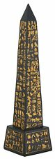 "EGYPTIAN OBELISK, Black, Resin Figurine, 8"" Tall, by Summit"