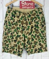 Dickies New York Duck Green Brown Camo Camouflage Cargo Skate Shorts £55 W28 New