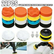 "22PCS 3"" Inch Polishing Pad Sponge Buff Buffing Kit Set For Car Polis-her  Fast"