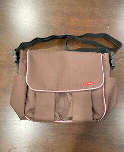 Skip Hop Diaper Bag Formal Changing Pad Brown Pink Travel Backpack