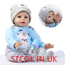 Lifelike Reborn Baby Doll 55CM/22inch Doll Vinyl Kids Playmate Bambole rinascere