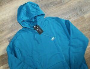 NWT Nike Men's Big & Tall Sportswear Hoodie Sweatshirt Teal Blue 4XLT
