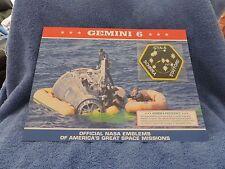 """Gemini 6"" OFFICIAL NASA SPACE EMBLEM PATCH & FACT SHEET"