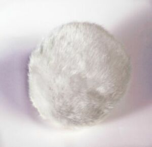 """Bunny Rabbit Animal Tail Fluffy Furry White Plush Deluxe 5"""" Costume Accessory"""