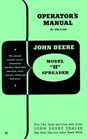 JOHN DEERE Model H Spreader Operators Manual