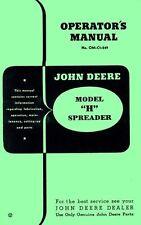 John Deere Model H Spreader Operators Manual