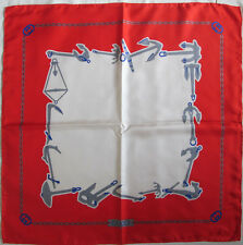 -Superbe Foulard  GUCCI   100% soie  TBEG  vintage scarf  85 x 85 cm