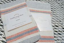 NWT Pottery Barn Foundations Bradley Stripe Sham Standard Linen Blue Red $49.50