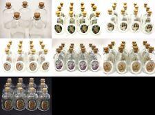 "Decorative Round Glass 3"" Bottle with Cork Top - Set of 12 bottles Send Art"