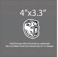 Troll LOL Face Meme Bumper Sticker Funny tailgate Kitty JDM Decal Weird Vinyl