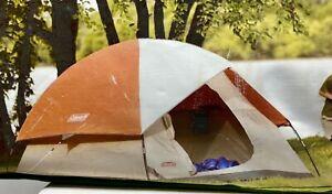 Coleman Sundome 3 Tent Tan/Orange 3 Person 7x7 New Old Stock