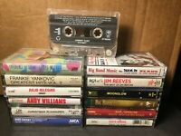 Lot of 13 Vintage Cassette Tapes Christmas Manilow Big Band Johnny Cash & More