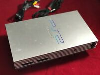 PS2 Konsole FAT SILBER Sony Playstation 2 PAL + Alle Kabel Voll Funktionsfähig