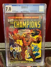 Champions #1 CGC 7.0, 1975, Huge Marvel Comic Key! 1st Team Appearance! MCU