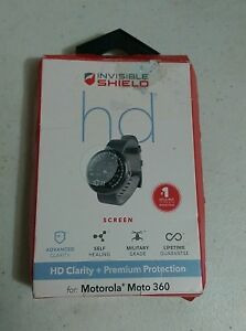 ZAGG Invisible Shield HD Clear Screen Protector for Motorola Moto 360 - OPEN BOX