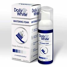 NEW! Daily White Fusion Teeth Whitening Cleaning & Dental Foam Toothpaste 50ml