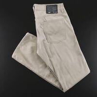 LEVI'S 514 White Tab Beige Woven Slim Straight Pants Mens W32 L32