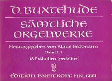 Noten: Buxtehude: Sämtliche Orgelwerke Band I,1 (Edition Breitkopf)