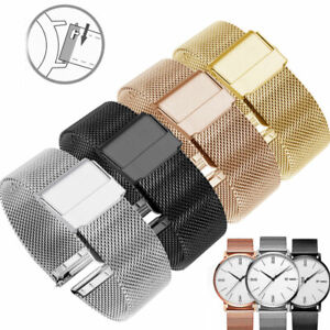 Thick Milanese Watch Strap Band Stainless Steel Mesh Bracelet 12-22mm Watchband^
