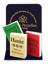 Reutter Porzellan 3 Bücher zum öffnen / 3 Books Puppenstube Dollhouse 1:12
