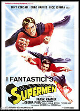 I FANTASTICI 3 SUPERMEN MANIFESTO CINEMA KRAMER KENDALL FANTASY MOVIE POSTER 2F