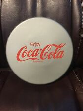 Coca Cola Gray Bottle Lid Shaped Plastic Serving Tray Cork Bottom- Enjoy Coke