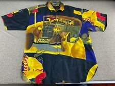 Simpson & Co. Supra Car Shirt Silk Club Xl All Over Print Antique Car German Vtg