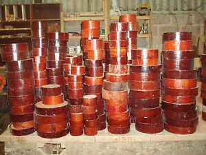 Sapele Mahogany wood turning bowl blanks. 50mm thick