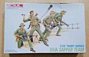 66-3308 DML 1/35th Scale NVA SAPPER TEAM Plastic Model Kit