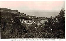 RPPC,Ste.Marthe de Gaspe,P.Q.,Canada.Vue de la Colline,View from Hillside,1920s
